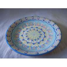 Светлосиня 18см. Чиния От Традиционна Троянска Керамика