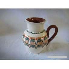 Бяла 0.5л. Керамична Кана Ръчно Изработена От Традиционна Българска Керамика
