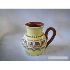 Жълта 0.5л. Керамична Кана Ръчно Изработена От Традиционна Българска Керамика