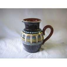 Тъмна 1л. Керамична Кана Ръчно Изработена От Традиционна Българска Керамика