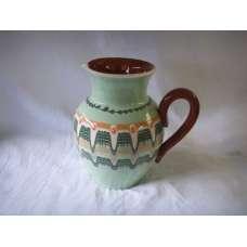 Светлозелена 1л. Керамична Кана Ръчно Изработена От Традиционна Българска Керамика