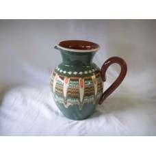 Тъмнозелена 1л. Керамична Кана Ръчно Изработена От Традиционна Българска Керамика