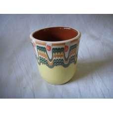 Жълта 100мл. Чаша Ръчно Изработена От Традиционна Българска Керамика