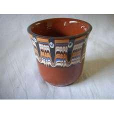Кафява 200мл. Чаша Ръчно Изработена От Традиционна Българска Керамика