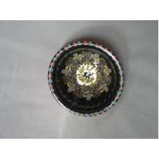 Тъмна 10см. Купа Ръчно Изработена От Традиционна Троянска Керамика
