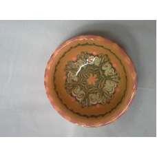 Оранжева 10см. Купа Ръчно Изработена От Традиционна Троянска Керамика