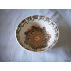 Бяла 22см. Купа Ръчно Изработена От Традиционна Троянска Керамика