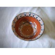 Кафява 15см. Купа Ръчно Изработена От Традиционна Троянска Керамика