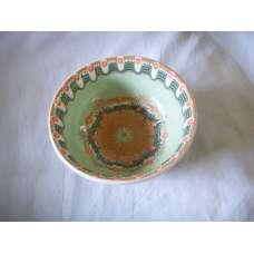 Светлозелена 15см. Купа Ръчно Изработена От Традиционна Троянска Керамика