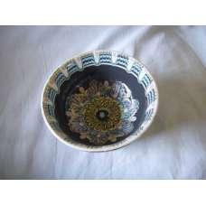 Тъмна 22см. Купа Ръчно Изработена От Традиционна Троянска Керамика