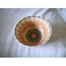 Оранжева 22см. Купа Ръчно Изработена От Традиционна Троянска Керамика