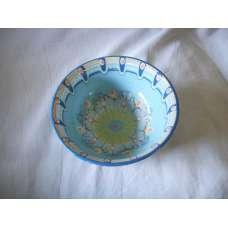 Светлосиня 22см. Купа Ръчно Изработена От Традиционна Троянска Керамика
