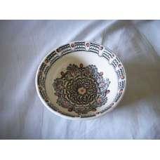 Черно-Бяла 22см. Купа Ръчно Изработена От Традиционна Троянска Керамика
