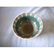 Тъмнозелена 22см. Купа Ръчно Изработена От Традиционна Троянска Керамика