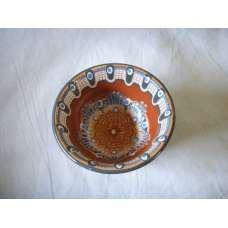 Кафява 12см. Купа Ръчно Изработена От Традиционна Троянска Керамика