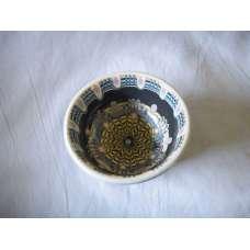 Тъмна 12см. Купа Ръчно Изработена От Традиционна Троянска Керамика