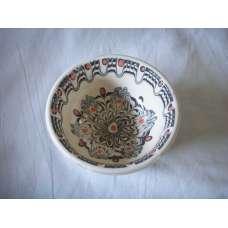 Черно-Бяла 12см. Купа Ръчно Изработена От Традиционна Троянска Керамика