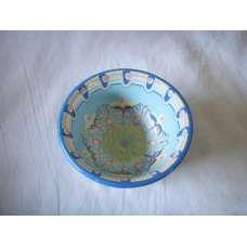 Светлосиня 12см. Купа Ръчно Изработена От Традиционна Троянска Керамика