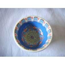 Тъмносиня 12см. Купа Ръчно Изработена От Традиционна Троянска Керамика