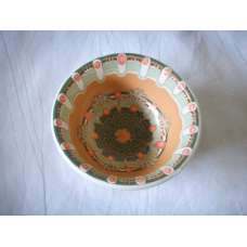 Оранжева 12см. Купа Ръчно Изработена От Традиционна Троянска Керамика