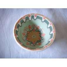 Светлозелена 12см. Купа Ръчно Изработена От Традиционна Троянска Керамика