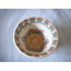 Бяла 12см. Купа Ръчно Изработена От Традиционна Троянска Керамика