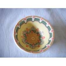 Жълта 12см. Купа Ръчно Изработена От Традиционна Троянска Керамика