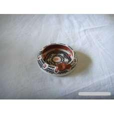 Черно-Бял 6см. Пепелник От Традиционна Троянска Керамика