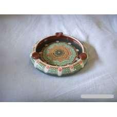 Тъмнозелен 13см. Пепелник От Традиционна Троянска Керамика