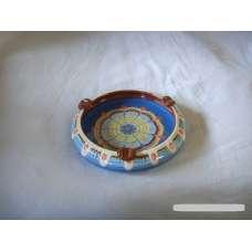 Тъмносин 13см. Пепелник От Традиционна Троянска Керамика