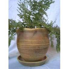 Жълта 15х15см. Къдрава Саксия Ръчно Изработена От Традиционна Троянска Керамика