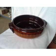 Тъмнокафява 30см. Керамична Тава Ръчно Изработена От Традиционна Българска Керамика